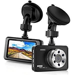 Busuo - Caméra dashcam 3 pouces LCD Full HD 1080P Grand Angle de 170 degrés - Caméra de tableau de bord avec fonctions G-sensor, WDR, enregistrement en boucle (noir)