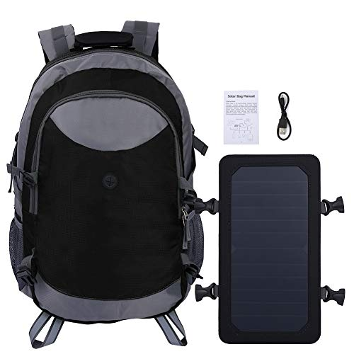 Kays Outdoor Solar Charge Travel Backpack Shoulder Bag For Cycling Hiking Camping For Men Women - Gray