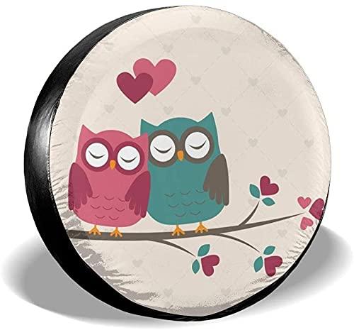 Bird Lovers - Cubierta para neumático de repuesto,poliéster,universal,de 15 pulgadas,para rueda de repuesto,para remolques,vehículos recreativos,SUV,ruedas de camiones,camiones,caravanas,accesorios p