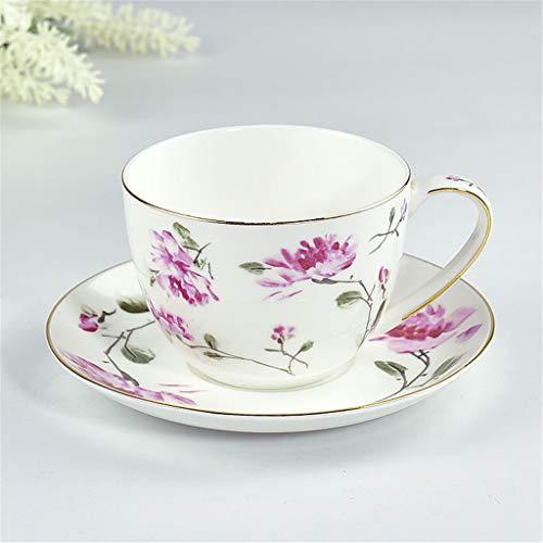 Céramiques Café Tasses À Thé avec SaucerSets Exquis Peint À La Main Fleur Plante Os Chine Fait Main Est De La Santé