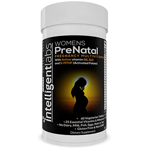Women's Prenatal Multivitamin, Highest Number of Pregnancy Vitamins and Minerals, with 100% 5-MTHF Activated Folate, Active B12 and B6, Easy-to-Take, 2 Months Supply