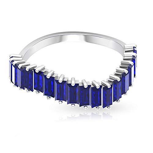 2,65 ct Baguette Form Saphir Diffuser Ring, SGL-zertifizierter Edelstein gewellter Ring, Statement Damen Arbeitskleidung Ring, Klassische Hochzeit Braut Versprechen Ring, 14K Gelbes Gold, Size:EU 69