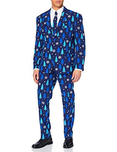 OppoSuits Weihnachtsanzüge für Herren – Besteht aus Sakko, Hose und Krawatte
