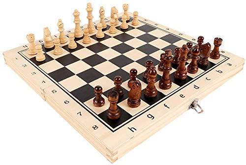 Conjunto de ajedrez Portable Magnético Plegable Tablero de ajedrez plegable de madera Internacional Juego de ajedrez al aire libre interior Ajedrez de madera sólido Juego de juegos de ajedrez de adult