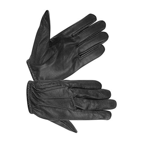 Hugger Men's Police Pat Down Safety Glove with Kevlar Lining Large Black