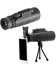 GSmart 40x60 hd Monocular Telescope Panda Lens for Mobile Adjustable Focus with Universal Mobile Clip for Camping, Hiking, Fishing - {Without Tripod}