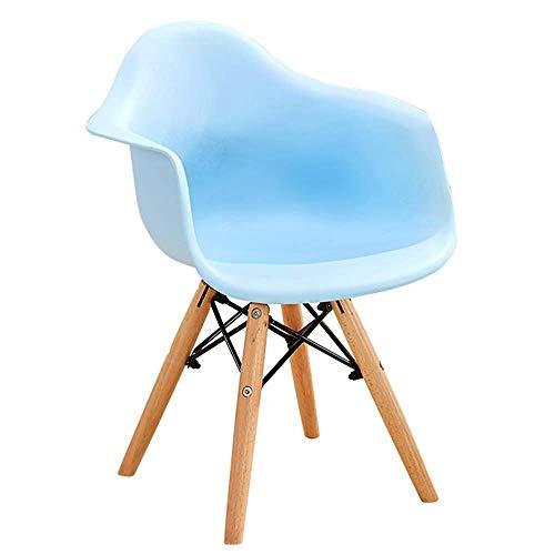 WSDSX Stuhl Modernes Design Esszimmerstühle Plastiksessel Natürliche Massivholzbeine Zeitgenössischer Designer Für Office Lounge Schlafzimmer Lounge Stuhl Tragfähigkeit 260 Lbs (Farbe: Rot)