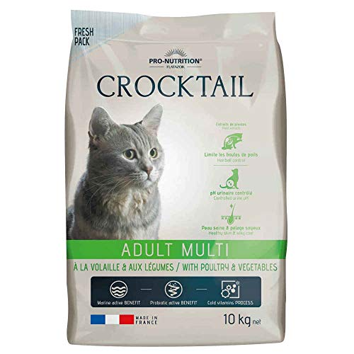 Flatazor - Croquettes CROCKTAIL Adult Multi pour Chat - 10Kg