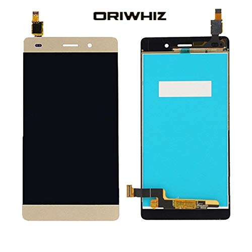ORIWHIZ Repair Parts LCD Screen Touch Screen Digitizer Assembly Without Frame for Huawei P8 Lite (Gold)