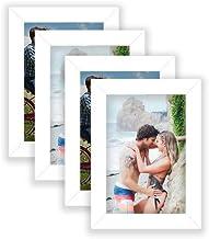 Kit 4 Porta Retrato 10x15 Moldura Premium Fosco c/Vidro Comum