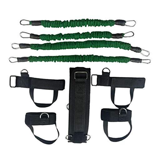Sharplace Bandas de Resistencia de Fitness Deportivo para Cintura, Brazo, Ejercicio, Gimnasio en Casa, Entrenamiento de Fuerza - Verde