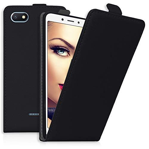 mtb more energy® Flip-Hülle Tasche für Xiaomi Redmi 6A (5.45'') - Schwarz - Kunstleder - Schutz-Tasche Cover Hülle