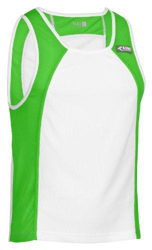 Rono Minimesh Débardeur pour Homme Multicolore Blanc/Vert XL