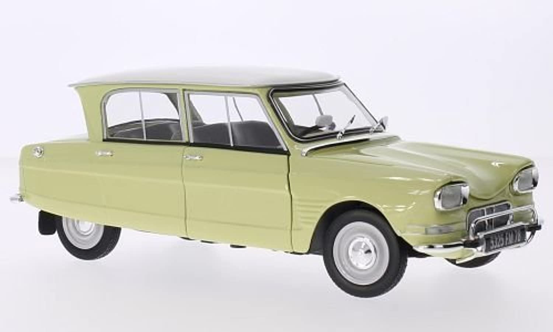 Citroen Ami 6, yellow weiss, 1964, Modellauto, Fertigmodell, Norev 1 18 by Citroen