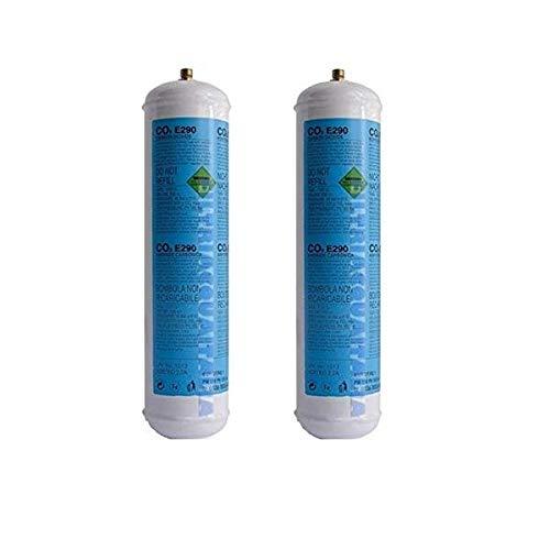 FILTRIACQUAITALIA Lotto 2X Bombole CO2 600g Monouso per Gasatori Domestici E290