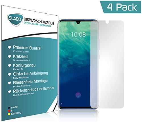 Slabo 4 x Bildschirmschutzfolie für ZTE Axon 10 Pro Bildschirmfolie Schutzfolie Folie Zubehör Crystal Clear KLAR