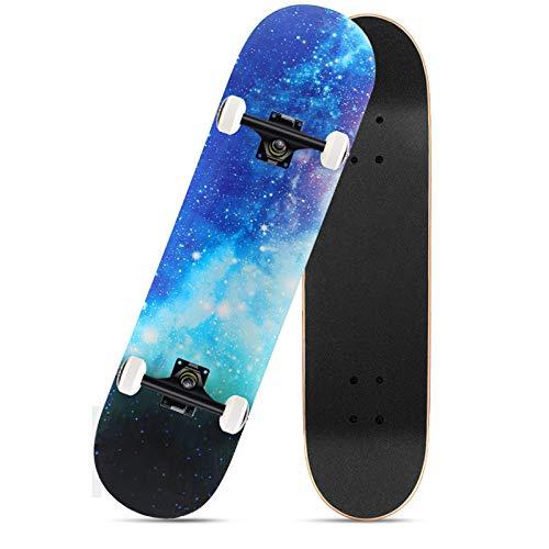 VByge Skateboard Principiante Profesional Junta Juvenil Monopatines Todopoderoso Cuatro Ruedas Doble Alice...
