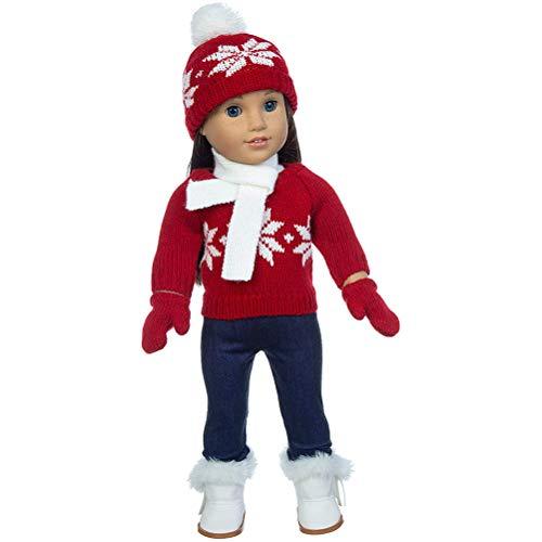 2020 Décorations de Noël personnalisées, vêtements de poupée, vêtements de poupée, tenues d'hiver chaudes, accessoires pull, pantalon, écharpe, gants
