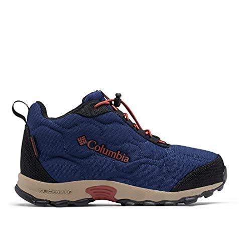 Columbia Unisex dziecięce buty trekkingowe dla młodzieży Firecamp Mid 2 Wp High Rise, Niebieski cień zardzewiały, 18 EU
