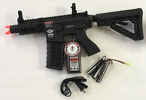 G&G Combat Machine M4 RIS CQB Fire Hawk AEG (Battery and Charger Package)