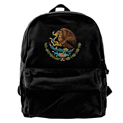 Mexico Mexican Mx Pride Flag Canvas Backpack Printed Schoolbag for Boy Girl Men Women