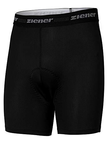 Ziener Herren EDRIZ X-Function Fahrrad-Unterhose/Rad-innenhose/Mountainbike-unterwäsche - Sehr Atmungsaktiv|gepolstert|schnelltrocknend|elastisch, Black, 50