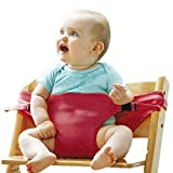 Pedique Portable Baby Travel High Chair Booster Safety Seat Strap Harness Belt for Baby Feeding (Multi Color)