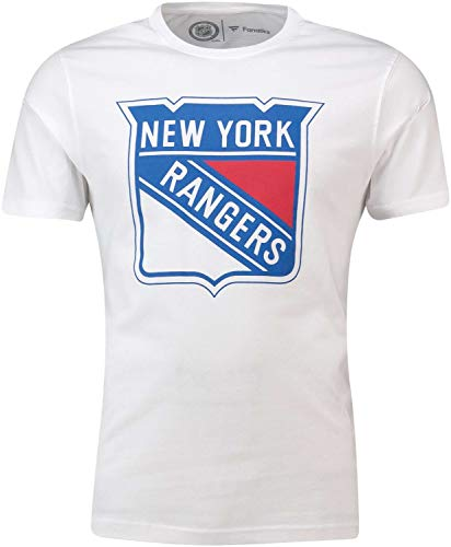 Fanatics - NHL New York Rangers Secondary Core Graphic T-Shirt - Weiß Größe XL, Farbe Weiß