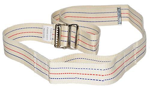 Transfer Gait Belt with Metal Buckle 1 Loop Handle Beige 60 inches. Available 1 Loop Handle: Beige 72