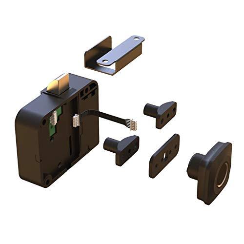 Fenteer Cerradura de Huellas Dactilares Cerraduras Electrónicas para Puertas de Gabinete, Reemplazo Del Kit de Cerradura de Gabinete Biométrica Inteligente, C