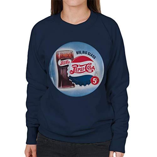 Pepsi Cola Retro Big Glass Women's Sweatshirt
