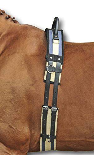 HKM 1795 Longeerriem met handgreep, riem Longeren, Canvas, Pony Shetty VB/WB