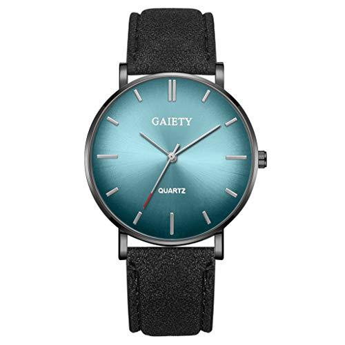 Analog Quarz ultradünn Classic Minimalistisches Design Armbanduhr für Herren, Skxinn Herrenuhren,Männer Business Fashion Einfach Armbanduhren mit Kunstlederband, Ausverkauf(D)