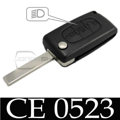 Jongo - Coque de Clé avec Lame Compatible avec Citroën C4 Picasso et C5 | CE0523 | Boitier Clef Plip Voiture Télécommande 3 Boutons