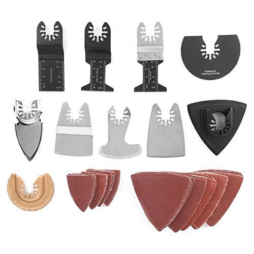 Dioche Kit de cuchillas para sierras multiherramientas con cuchillas, juego de 70 piezas, accesorios para herramientas