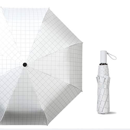 Great Deal! Jian Rain and Rain Dual-use Umbrella Simple Rain-Proof UV-Resistant Black Plastic Umbrel...