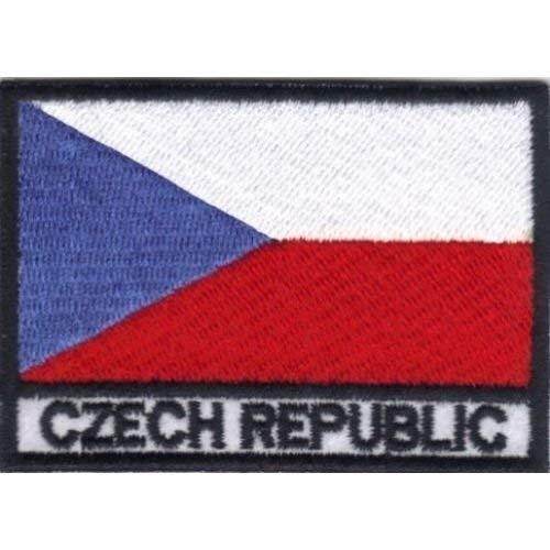 Patch Bandera REPÚBLICA CHECA cm 7x 5Parche Bordado