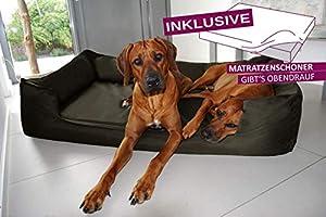Tierlando® Lit pour chien orthopédique Goofy Visco Polyester Canapé pour chien M L XL XXL XXXL | 90–185cm | 30couleurs