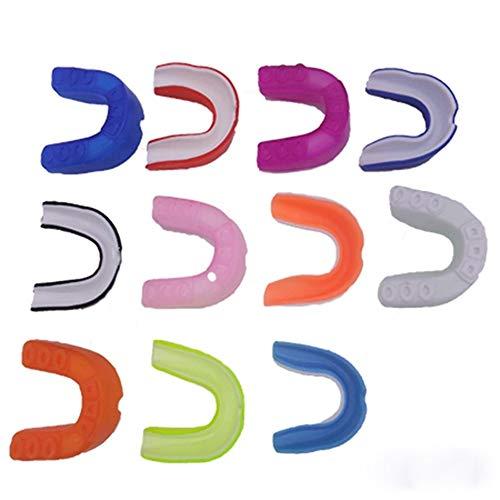 ERSD Sport Teeth Eva Thermoplastisches Silikon-Klammer-Boxen Zähne Sanda Basketball Zähne Gum Kaugummi-Schild Anti-Verschleiß Zahnspange (Farbe : Random)
