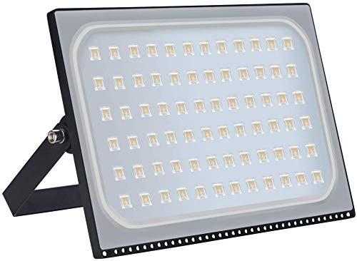 Viugreum 500W LED Foco Exterior de alto brillo, Led Floodlight 50000LM 3200K(Blanco Cálido),LED Focos Iluminación de, Iluminación de Exterior para Patios, Caminos, Escaleras, Fábricas,Jardines.