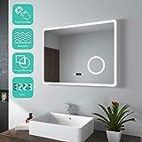 EMKE Espejo de Baño Espejo de baño Espejo LED Espejo de Pared con Interruptor...