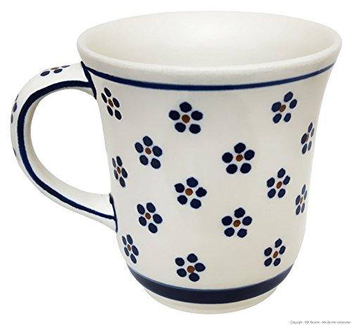 Original Bunzlauer Keramik Kaffeebecher 300ml Dekor 37 Kaffeetasse Teepott Teetasse