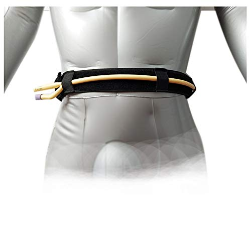 Bauchdialyse-Schutzgürtel-Elastikbund-Drainageschlauch-Bandkatheter-Fixierungsvorrichtung,Black