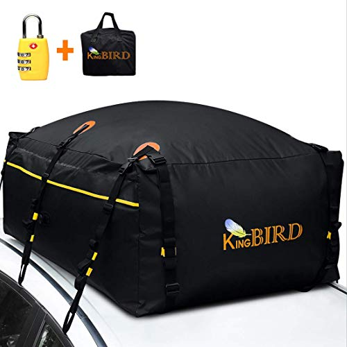KING BIRD 100% Waterproof Roof Cargo Carrier Bag with Built-in Non-Slip Mat...