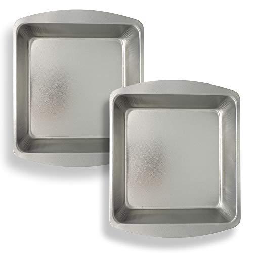 ebake 20cm Backformen Set Quadratisch für Kuchen, Backen und Kochen, Diese rechteckige Backformen haben eine Antihaftbeschichtung, Robustes Backform-Design (2er-Set)