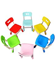 Height Adjustable Strong Ergonomic Plastic Kid's Chair for Kindergarten, Classroom Table, Home   Stackable Toddler Seat
