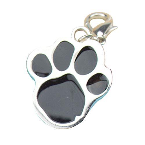 Morza Huella Llavero del Perro de Animal doméstico del Gato del Acero Inoxidable de la Pata del Animal de la impresión de Tarjetas de identificación Identidad Etiquetas Cuello Colgante Collar