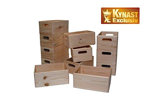 Holz Kiste Allzweck Box 12-Stück Kiefer 30x20x14 cm KYNAST