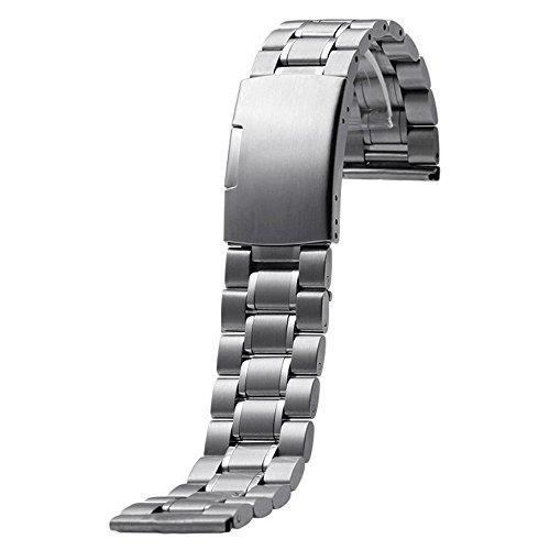 Gossip Boy Edelstahl Uhr Band Armband für Motorola Moto 3602nd 46mm Silber Silber