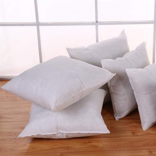 Almohada de tela suave blanca para decoración de interiores, transpirable, estándar, base de almohada de una sola pieza, dos tamaños 3,12 (tamaño: 45 x 45 cm)